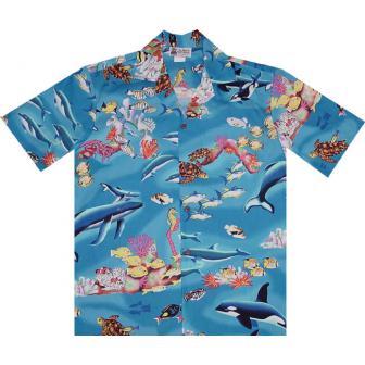 Original Hawaiihemd Underwater World of Hawaii
