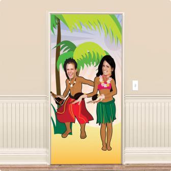 Fotowand-Folie Hula Girl & Beachboy 182 cm