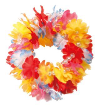 Hawaii Blumen-Armband mit Perlen