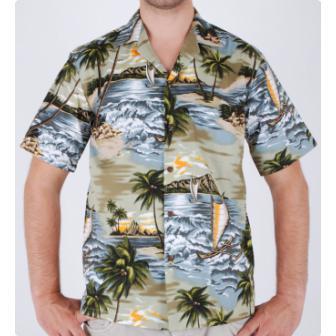 Original Hawaiihemd Hapuna Bay
