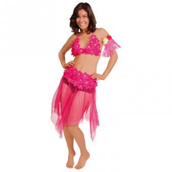 Kostüm Pinkes Hula-Girl 2-tlg.