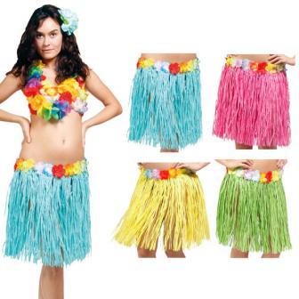 "Kurzer Hawaii-Rock ""Hula Girl"" 45 cm"