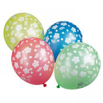 Luftballons Hibiskus 5er Pack