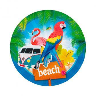 "Pappteller ""Beach-Party"" 8er Pack"
