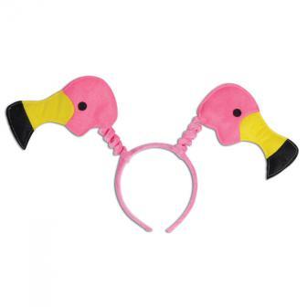 Plüsch-Haarreif Pinke Flamingos
