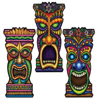 Wanddeko Tiki-Maske 60 cm