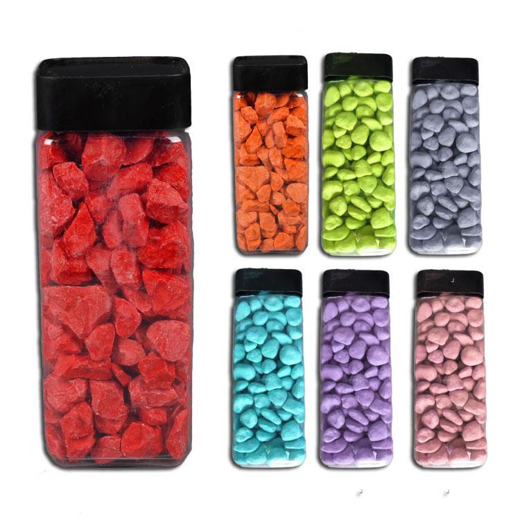 Gef rbte deko steine 650 ml g nstig kaufen bei for Rote ziersteine