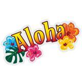 3D-Wanddeko ALOHA-Schriftzug 52,5 cm