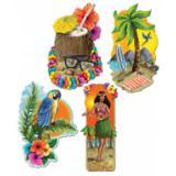 Dekobilder Aloha 51 cm 4-tlg.