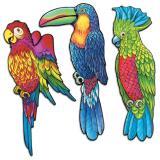 Dekobilder Papageien 43 cm 3-tlg.