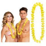 Einfarbige Hawaii Blumenketten 25er Pack-gelb