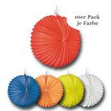 Einfarbige Runde Lampions 22 cm 10er Pack