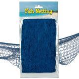 Fischernetz zur Dekoration 370 cm  x 120 cm-blau