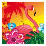 Servietten Exotischer Flamingo 12er Pack