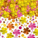 Konfetti pink-gelbe Blüten 71 g