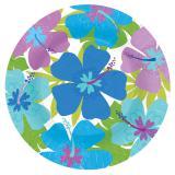 Pappteller Blaue Hibiskusblüte 26,5 cm 8er Pack