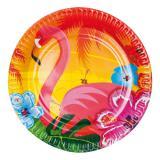 Pappteller exotischer Flamingo 6er Pack