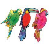 Deckenhänger Exotischer Wabenpapier-Vogel 43 cm