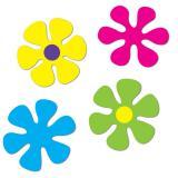 Raumdeko Flower-Power Blumen 30 cm 4er Pack
