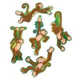 Raumdeko Tobende Affen 18 cm 10-tlg.