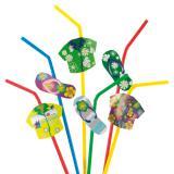 Strohhalme Hawaiihemd und Flip Flop 20er Pack