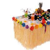 Tropische Tischdeko mit Blüten 275 cm schwer entflammbar