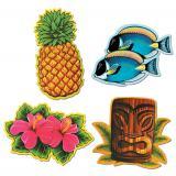 Wanddeko Aloha 30 cm 4-tlg.