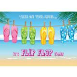 Wanddeko Flip-Flop Time 59 x 42 cm