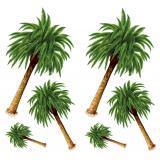 Wanddeko Palmen 122 cm 6-tlg.