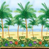 Wanddeko Palmenstrand 1,2 x 12,2 m