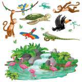 Wanddeko Tropische Tierwelt 13-tlg. 164 cm